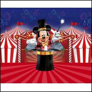 Painel Tecido Sublimado Circo do Mickey 2,5 Alt X 3,0 Larg Sem Emenda