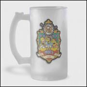 Caneca de Chopp - Simpsons / Bar do Moe / Duff - Vidro Jateado 475ml