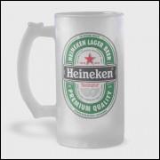 Caneca de Chopp - Heineken - Vidro Jateado 475ml