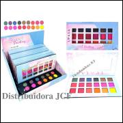 Paleta de Sombras Sweet Emotions 18 Cores Vivai 4008 ( 12 Unidades + Demonstradores )