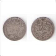 EGITO - 5 Piastres - Prata - 1917 - KM 318.1