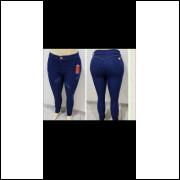Calça Jeans Feminino Azul marinho Plus Sizes