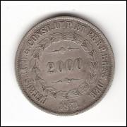 2000 Reis - 1851 - mbc (570)=2