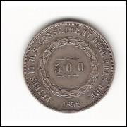500 reis - 1858 - mbc/sob  (591)