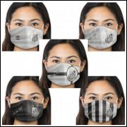 Kit Máscara de Proteção Respiratória do Santos - 05 Unid. - Tecido 100% Poliester