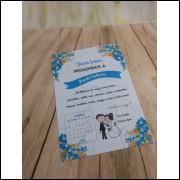 Convite Quebra Cabeças Azul- 10 Unidades