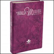Bíblia da Mulher Estudo Feminina Grande RA Púrpura Nobre