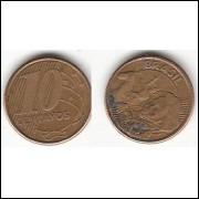 10 centavos/real - 2003 - REVERSO HORIZONTAL DIREITO (490b)-