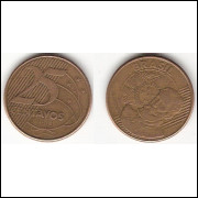 25 centavos/real - 2003 - REVERSO HORIZONTAL DIREITO (511b)-