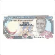 ZAMBIA - 10 Kwacha 1989 - P.31b - FE