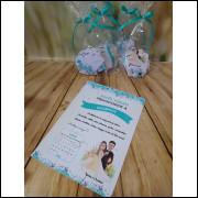 Convite Quebra Cabeças Casamento - 26 Unidades