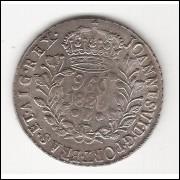 960 Reis - 1820 Bahia - var 10F - sob (462) ESCASSA