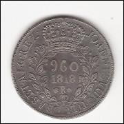 960 Reis - 1818 Rio  s/POTOSI var GS 14C -/sob (476)
