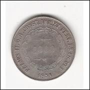 1000 Reis - 1851 - DEF SEM PONTO -  mbc/sob (568A)