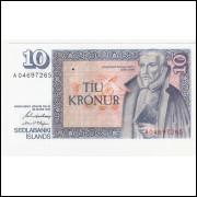 ISLANDIA 10 Kronur 1981 - P.48 - FE