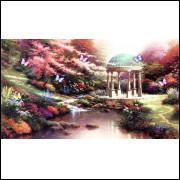 Painel Jardim Encantado Sublimação 3,0 X 5,0 Sem Emenda