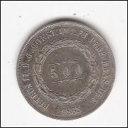 500 Reis - 1863 - sob (596)