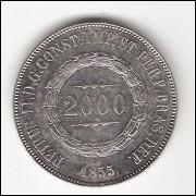 2000 Reis - 1855 - sob (617)