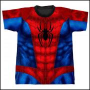 Camiseta Estampa Total - Homem Aranha