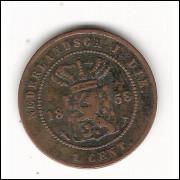 INDIAS HOLANDESAS 1 Cent 1858 - km 307.2