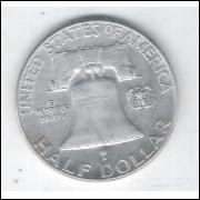 Estados Unidos, Half Dollar, 1950, prata, s/fc.