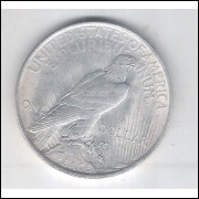Estados Unidos Peace Dollar 1923 Prata .900 FC 32mm Águia