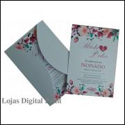 Convite + envelopes brancos (25 Unidades)