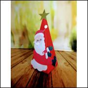 Caixa Cone Papai Noel com Estrela - 5 unidades