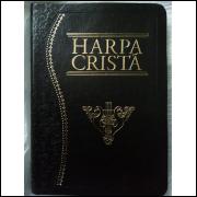 Harpa Cristã Luxo Grande Preta