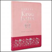 Bíblia King James Atualizada Slim Rosa Claro e Pink
