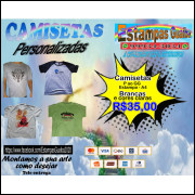 Camisetas Personalizadas – Cores Claras  A4