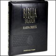 Bíblia Grande com Harpa Cristã Letra Gigante Índice e Zíper Preta