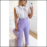 Calça clochard lilás