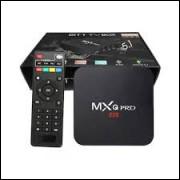 Aparelho Tv Box Transforma Tv Em Smart 4k 5G  4gb de ram e 64 de memoria com teclado