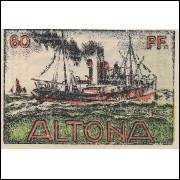 Alemanha Altona 1921 60 pfg SOB/FE