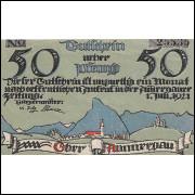 Alemanha ober Ammergau 1921 50 pfg SOB/FE