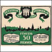 Alemanha Kitzingem am 1921 50 pfg SOB/FE