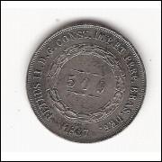 500 reis - 1867 - sob (600)=2