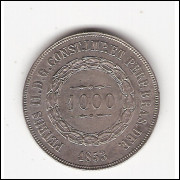 1000 reis - 1853 - sob/fc (P601)=2