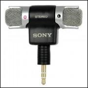 Mini Microfone Stereo Sony (3.5mm Jack) - Frete Grátis