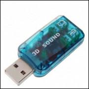 Virtual Surround 5.1 Usb 2.0 Placa De Som Externa - Frete Grátis