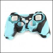 Capa De Silicone Para Controle Ps3 - Azul E Preto