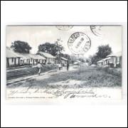 PAR02 - Cartão postal antigo, circulado em 1908. PARÁ - Rua dos Cearenses.
