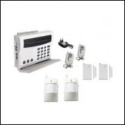 Sistema De Alarme Wireless 4 Sensores Discagem Automática