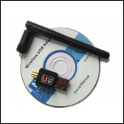 Placa Rede Wifi Usb 150mbps 802.11b/g/n Antena Frete Grátis
