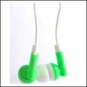 Fone De Ouvido Silicone 3,5mm - Verde - Frete Grátis