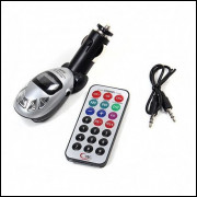 Mp3 Player Usb Transmissor Fm Sd Mmc - Prata
