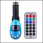 Mp3 Player Usb Transmissor Fm Sd Mmc - Azul