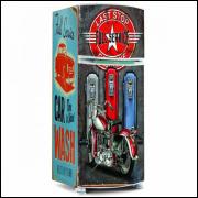 Adesivo para Envelopamento de Geladeira - Vintage Metal 01 - A partir de R$ 72,90