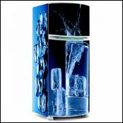 Adesivo para Envelopamento de Geladeira - Água e Gelo 01 - A partir de R$ 72,90